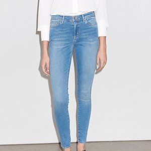 Topshop Blue Leigh Skinny Stretch Jeans